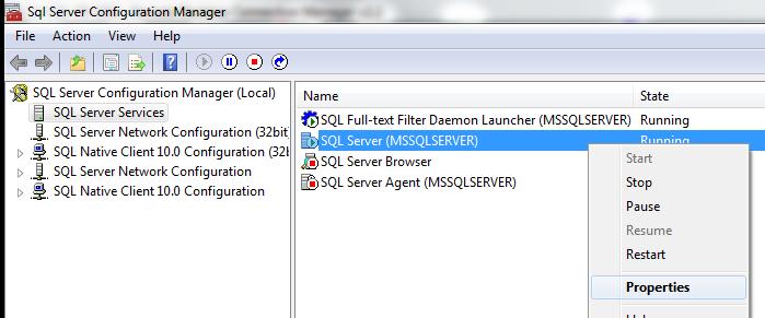 SQL Server Startup Parameters greyed out  | Devon DBA