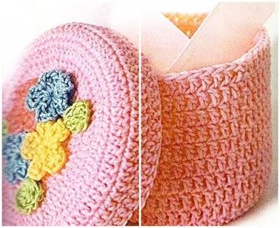Caja Redonda de Crochet Patron