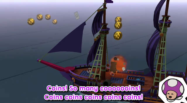 Paper Mario Color Splash coins Rescue Purple Toad pirate ship Lost Sea collection