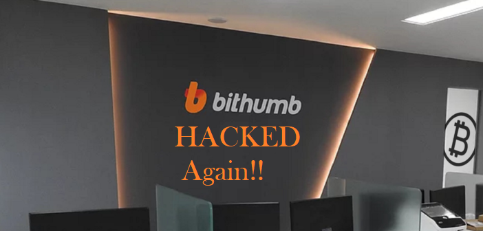 Bithumb Crypto Exchange Hacked Again, $31million Stolen
