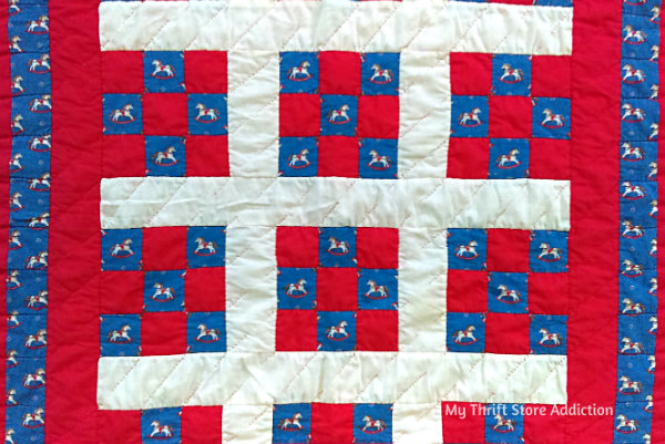 Friday's Find #144 mythriftstoreaddiction.blogspot.com Fabulous finds of the week including this vintage handmade quilt, available on Etsy: Thrift Store Addiction