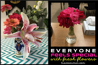 Use fresh flowers to add a special touch to your secondary classroom  Read more: www.traceeorman.com