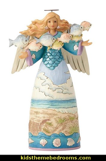 Jim Shore Heartwood Creek Coastal Angel with Fish