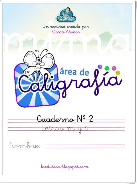 """Cuadernillo de Caligrafía: Letras """"m"""" y """"t"""""""