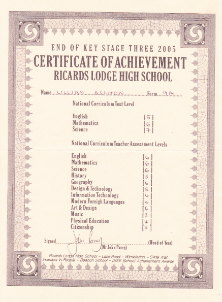 ★ Lilly Ashton ★: My School Certificates