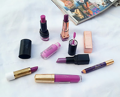 purple lipsticks