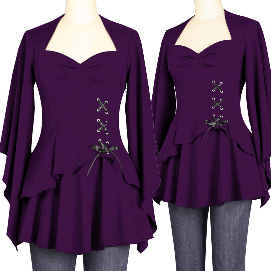 Blueberry Hill Fashions Plus Size Gothic Tops Skirts