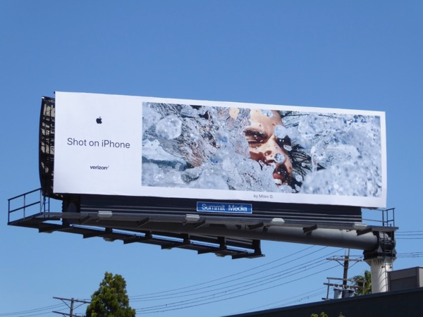 Shot on iPhone Miles G billboard