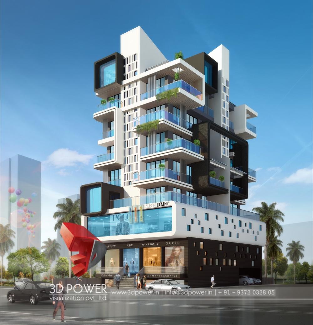 3d animation 3d rendering 3d walkthrough 3d interior for Apartment building layout