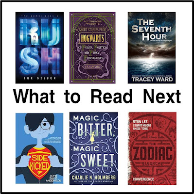 Find a good book to read with these six books full of adventure with aliens, dystopian wonder, magic, and superhero fights.  There's something for everyone to enjoy the end of summer and relieve the back to school stress with a good book.