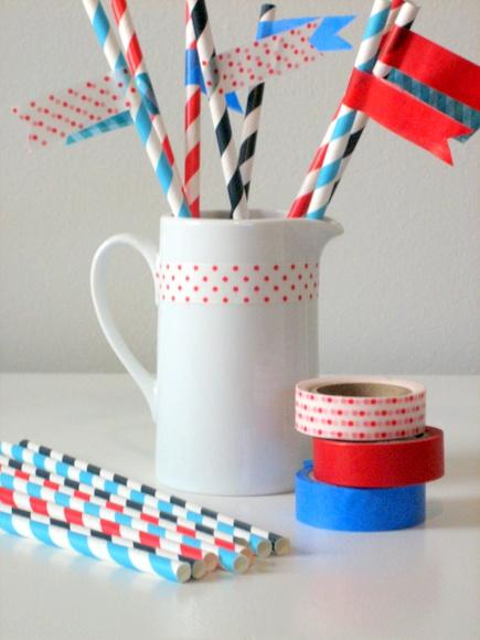 easy washi tape straws