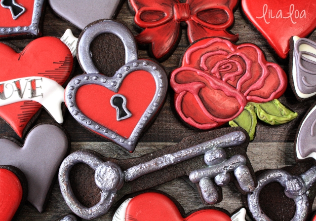 Key to my Heart Valentine's Day sugar cookies