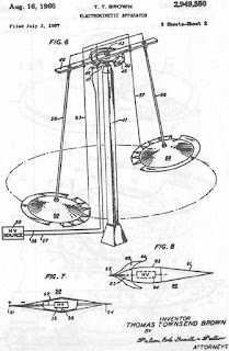 US2949550 - T Townsend Brown's Electrokinetic Apparatus