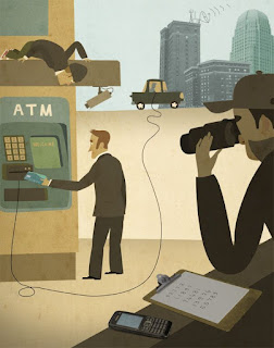 watch your surrounding before using atm
