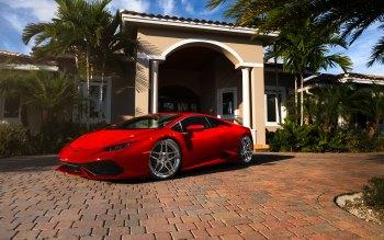 Wallpaper: Lamborghini Huracan Red