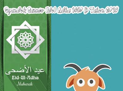 Spanduk Banner Idul Adha 1439 H Tahun 2018
