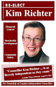 Kim Richter's 2011 Council Re-Election Platform & Brochure will stay online as Reference