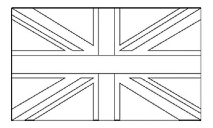 Coloriage drapeau anglais my blog - Drapeau angleterre coloriage ...