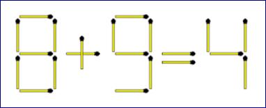 Matchsticks Equation Riddle