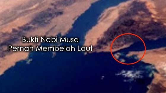 Bukti Nabi Musa Pernah Membelah Laut