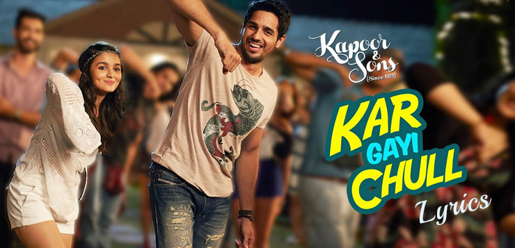 Alia bhatt and siddharth malhotra in kar gayi chull song from movie kapoor and sons