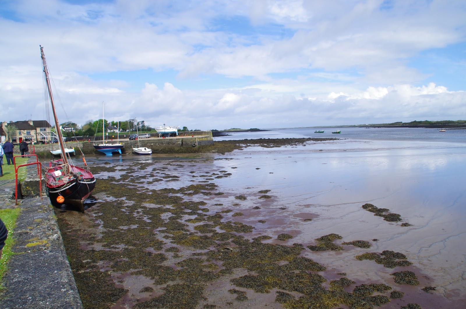 Kinvara Harbour on low tide