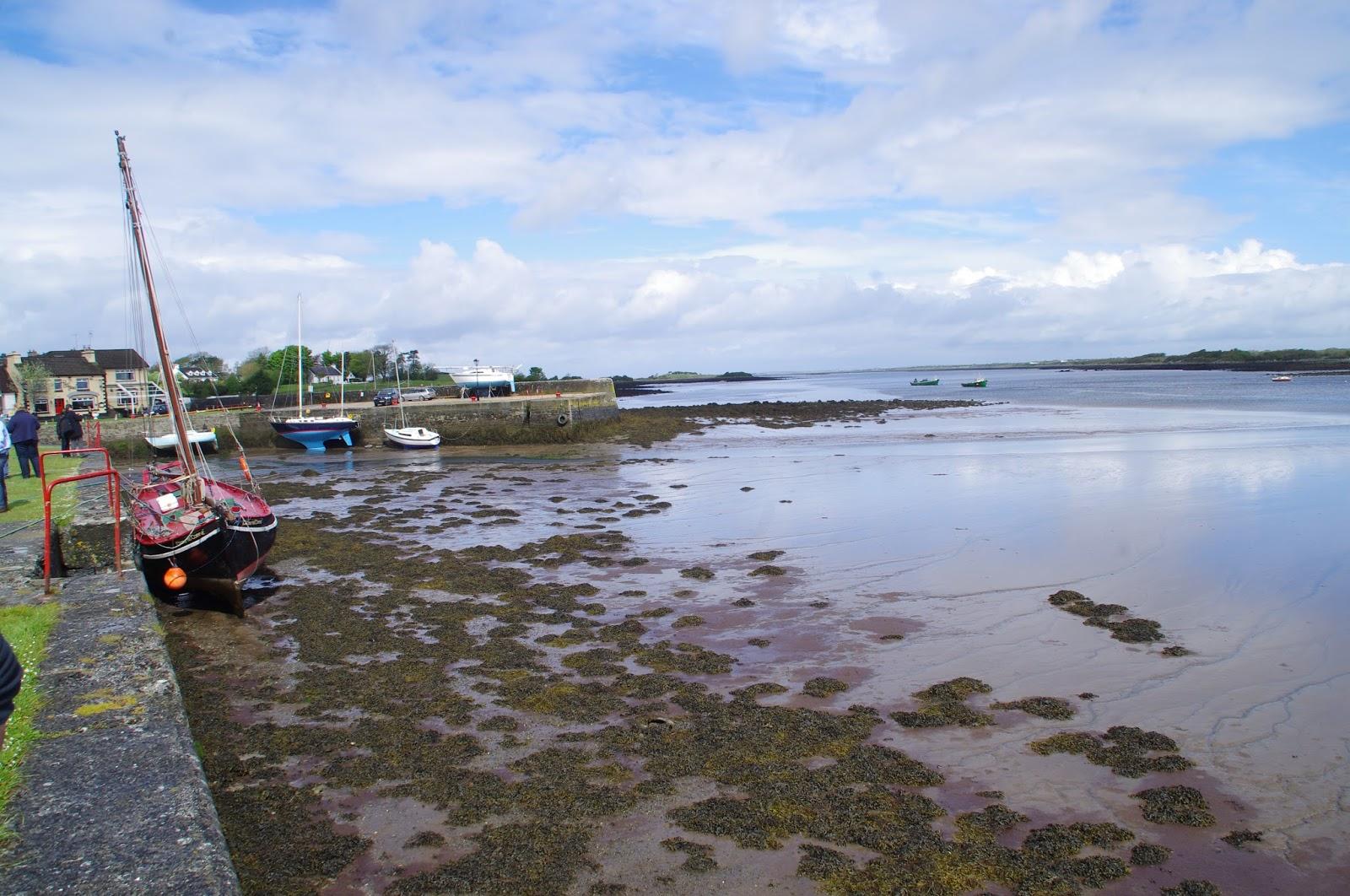 Kinvara Harbour on low tide