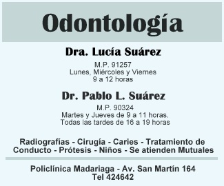 odontóloga Suarez