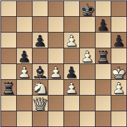 Partida de ajedrez Valls Tona vs. Golmayo, I Torneo Nacional de Mataró 1948, posición después de 34…Tg5