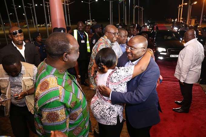 Photos: Vice President, Dr Mahamudu Bawumia Back To Base After 12 Days Medical Leave In England