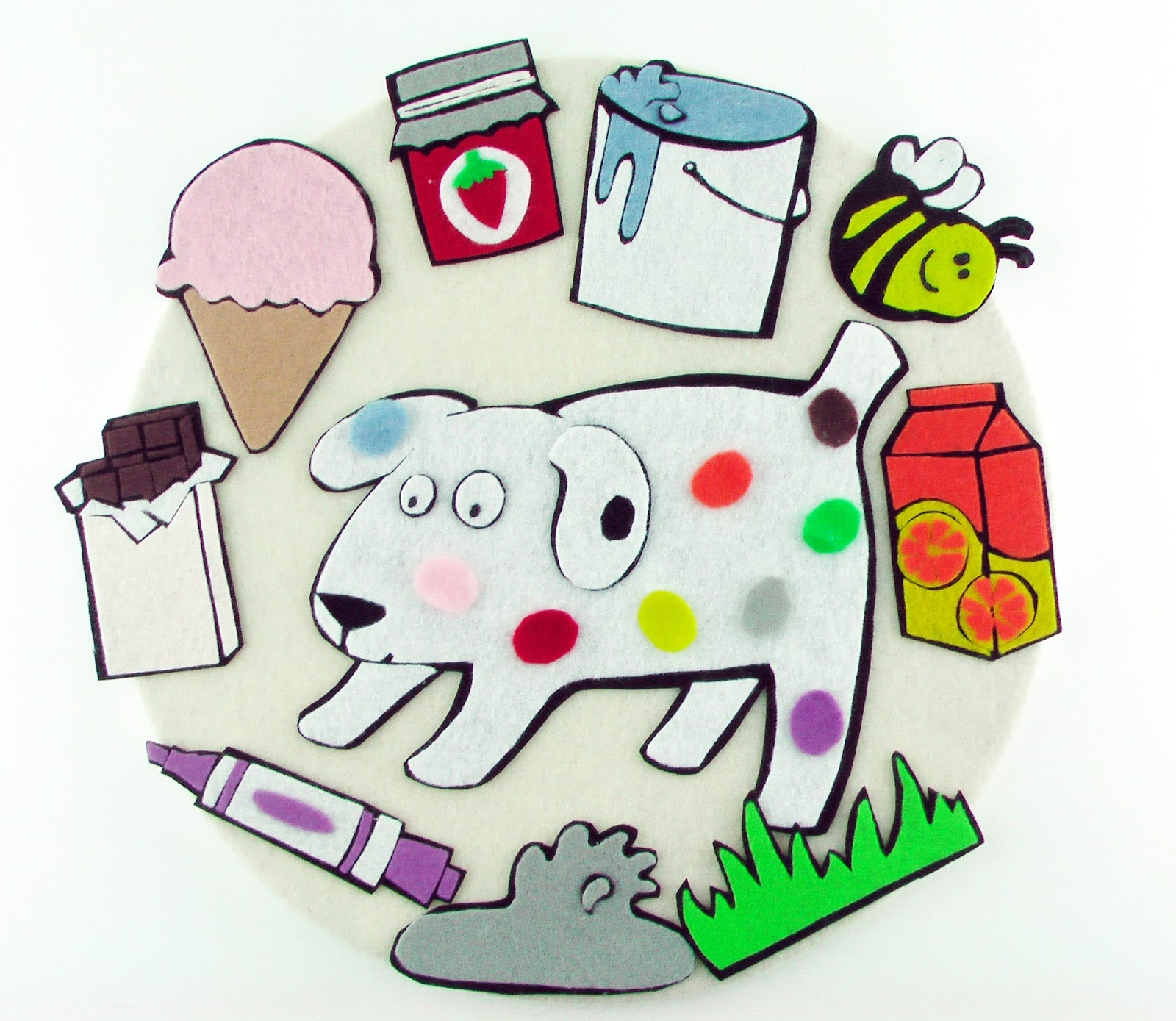 Flannel Board Fun Dog S Colorful Day