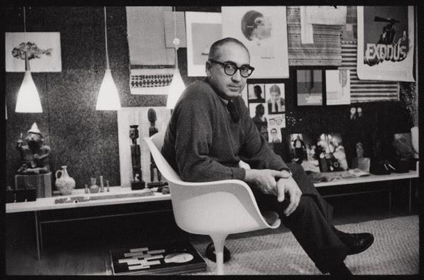 Saul Bass, graphic designer.