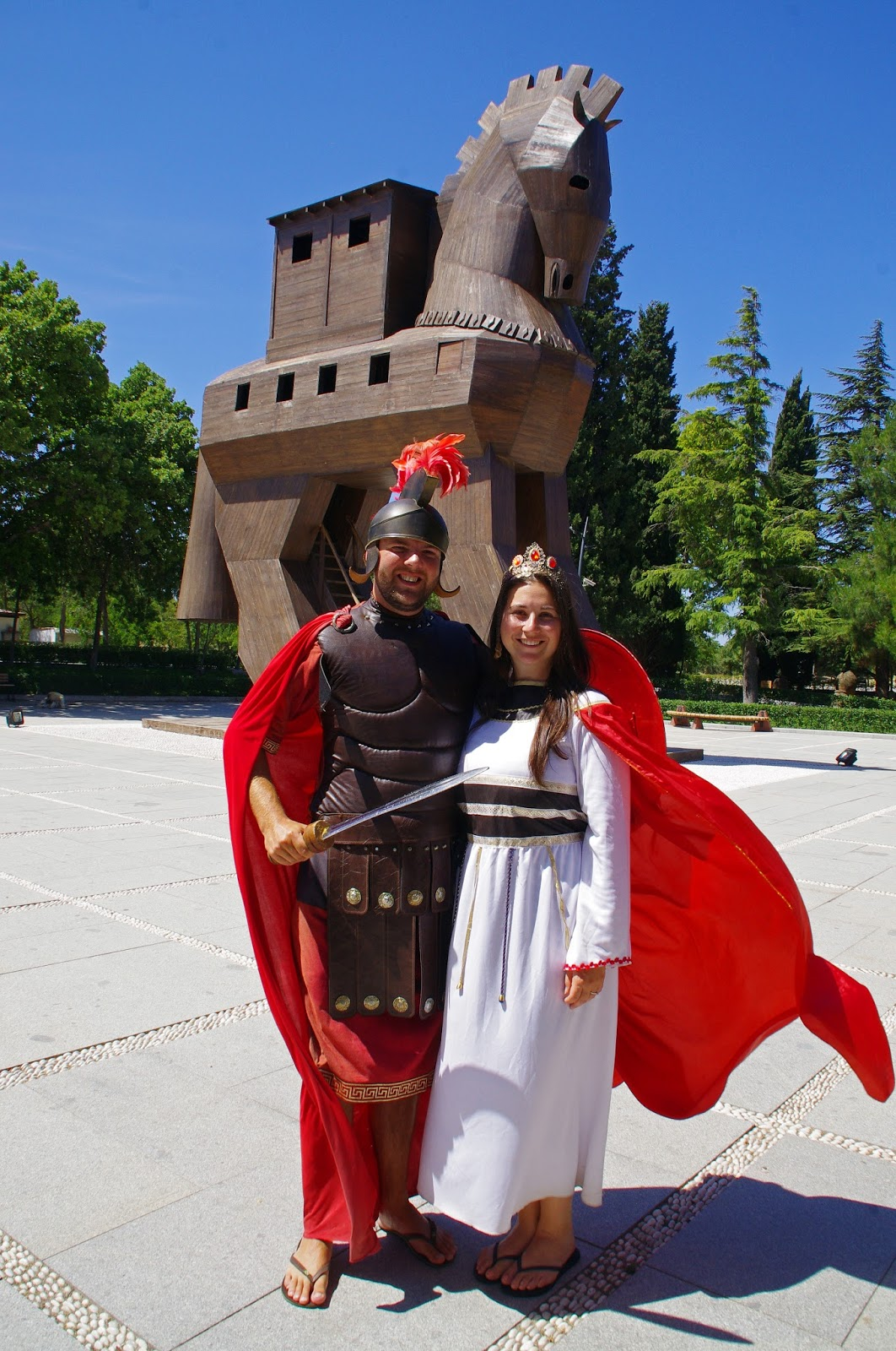 Couple dressed up in Troy