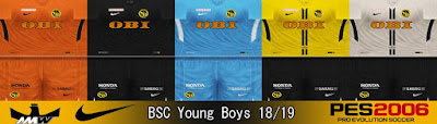 PES 6 Kits BSC Young Boys Season 2018/2019 by Ahmed Wahba
