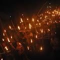 Ranting IPNU IPPNU desa Gumelar bersama Warga semarakkan malam takbiran dengan Damar sewu