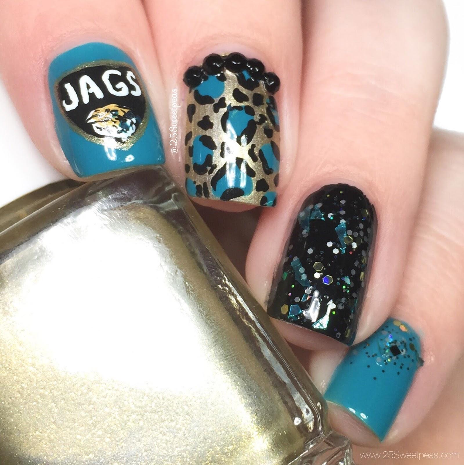 Jacksonville Jaguar Nail Art