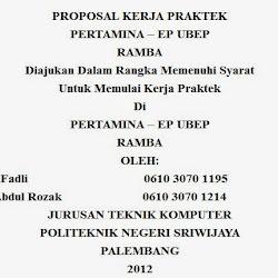 Contoh Proposal Magang Kerja Praktek Terbaru Contoh Proposal