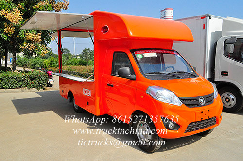 Mini Foton fast food cars to sell food/ mobile kitchen truck - Hubei ...
