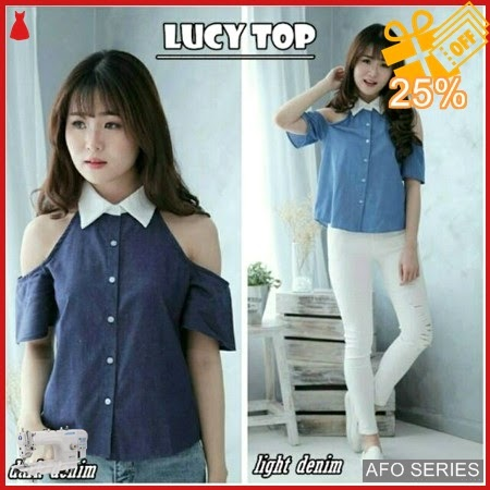 AFO193 Model Fashion Lucy Top Modis Murah BMGShop