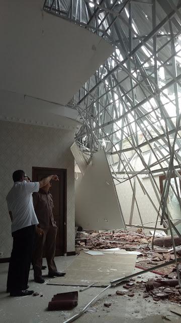 Atap Rumdin Ambruk, Ini Reaksi Pemkab OKI