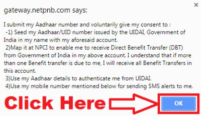 how to link aadhaar card to punjab national bank account