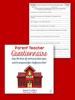 Parent Conference Days are a challenge! Here's a freebie that will help you prepare!