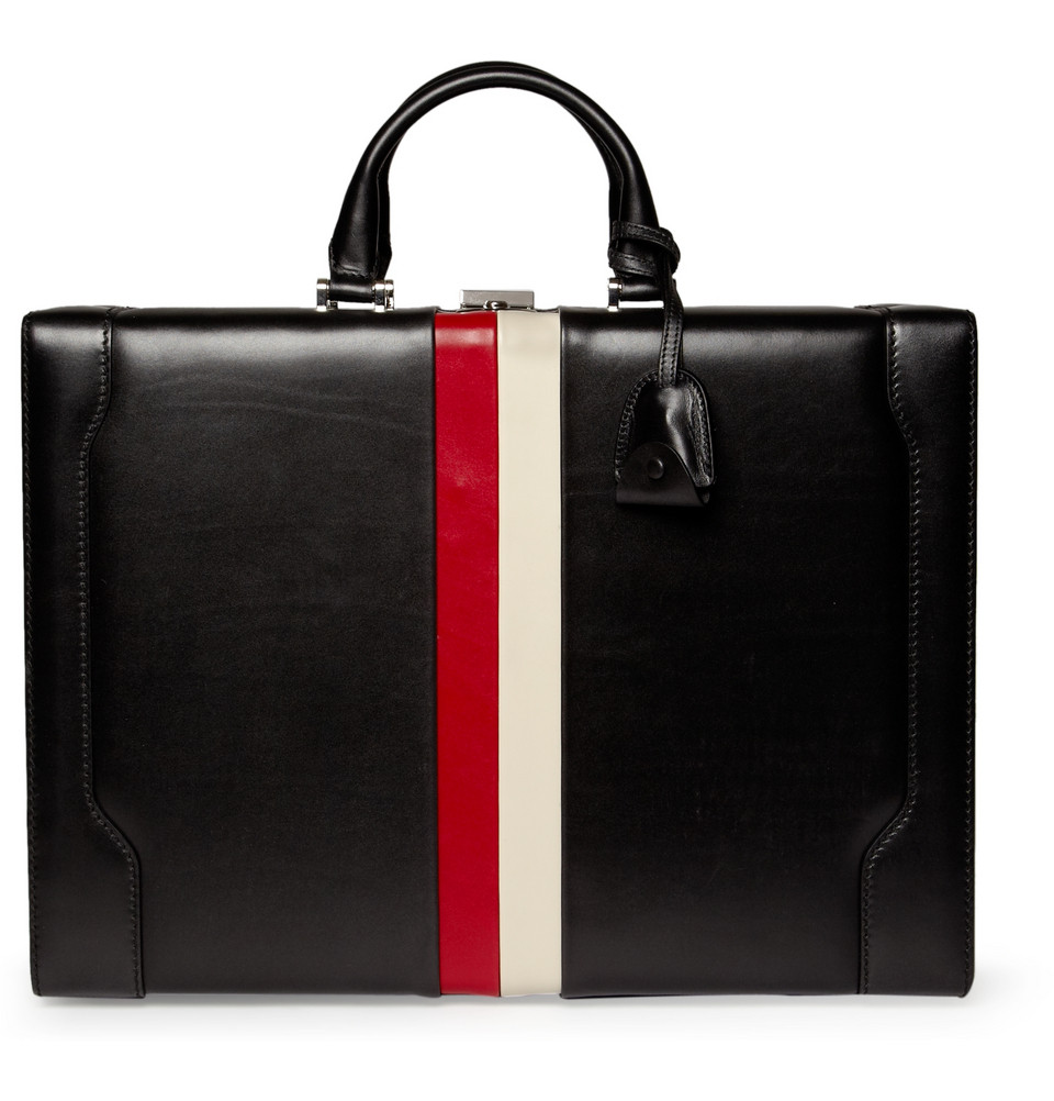 Men's Fashion & Style Aficionado: GUCCI Striped Leather ...