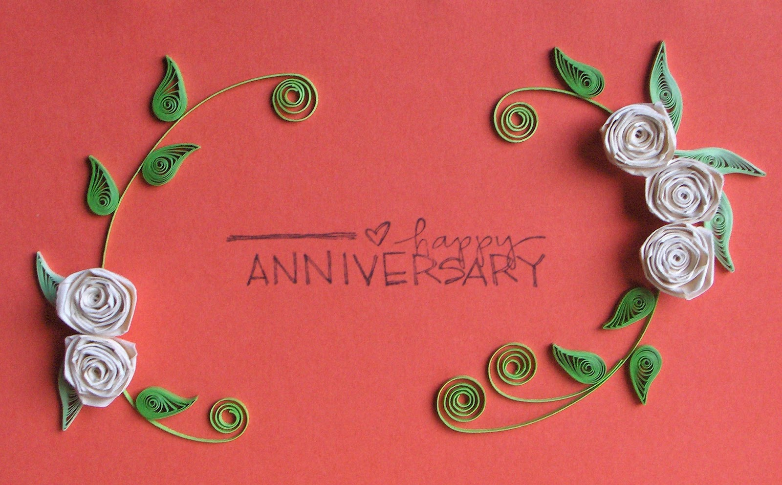 Almost One Year Anniversary Quotes: Quilling With Fun: Happy Anniversary Card