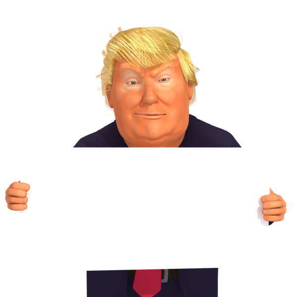 Donald Trump Caricature Holding a Sign Free ImagesTrump