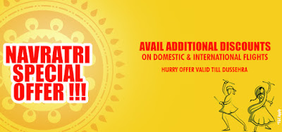 Book Domestic and International  Flights with best Navratri Festival Offers