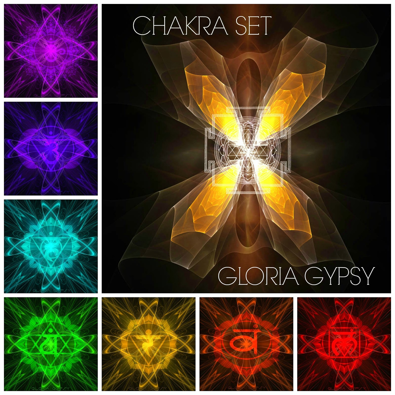Chakra Set by Gloria Gypsy