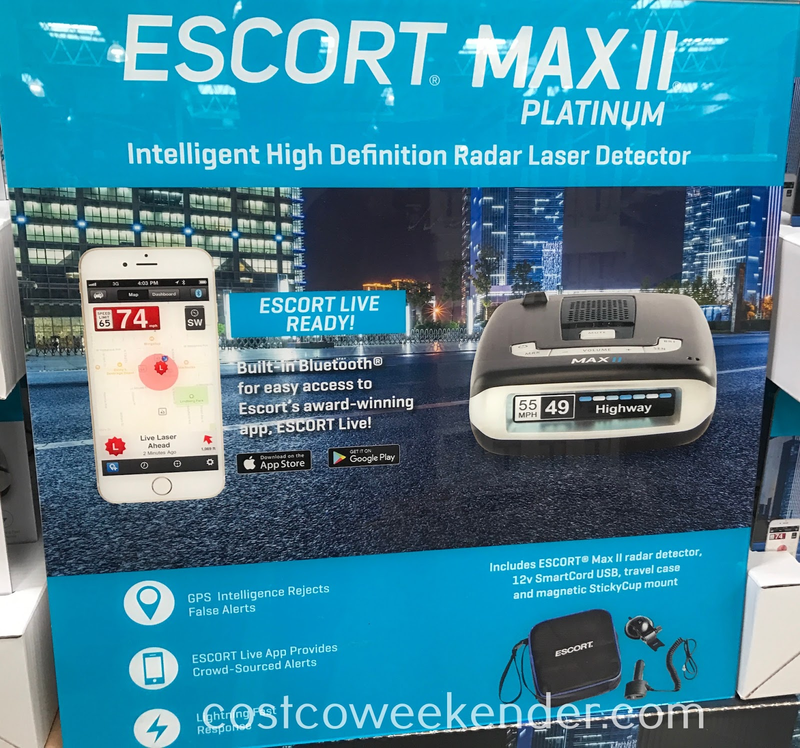 Avoid being pulled over with the Escort Max II Platinum Radar Detector