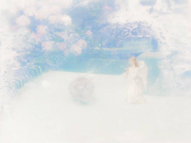 mixed media angel art