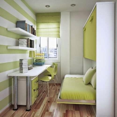 Contoh desain kamar tidur sempit untuk rumah minimalis